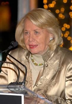 Liz Smith at podium