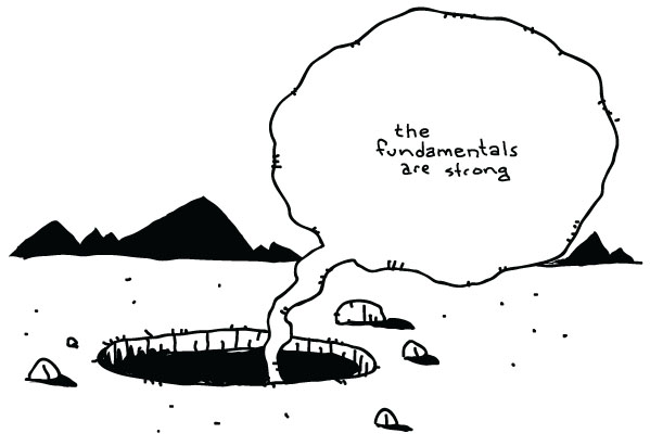 Fundamentals Are Strong cartoon from Brett Lamb
