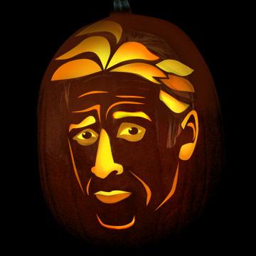 Jon Stewart pumpkin
