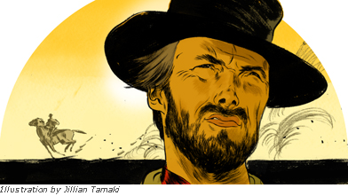 Clint Eastwood illustration for CBC by Jillian Tamald