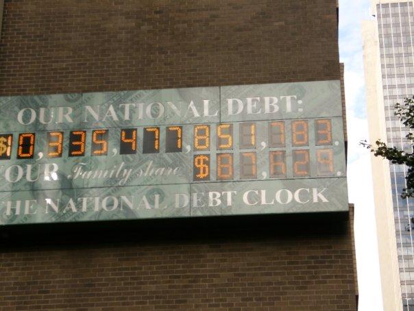 National Debt Clock in Manhattan