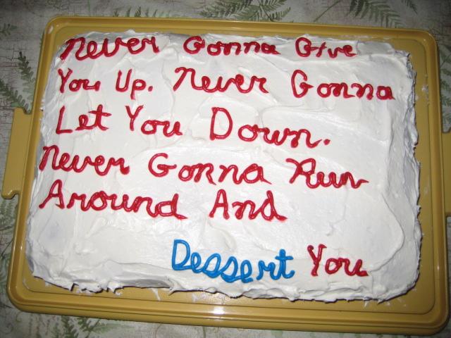 Astley cake