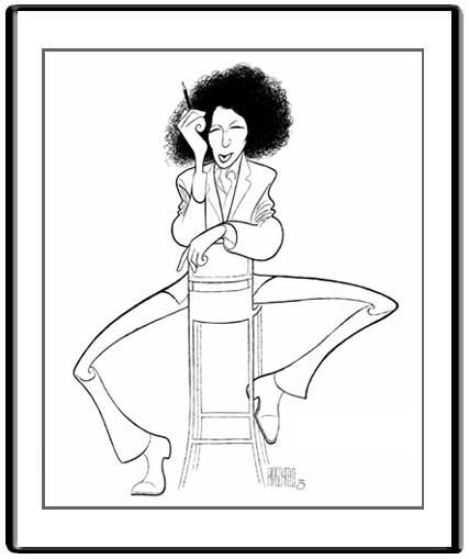 Fran Lebowitz (Hirschfeld illustration)