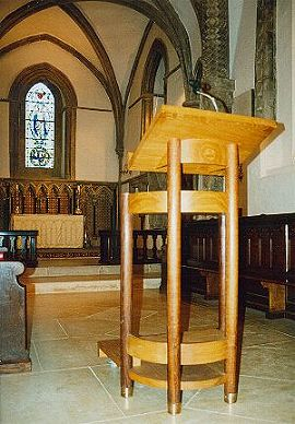 Lectern in church