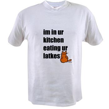 I'm in ur kitchen eating ur latkes