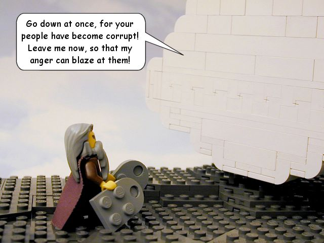 Lego Bible Moses with Ten Commandments