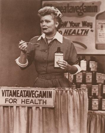 Lucille Ball with vitameatavegamin