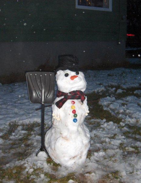 Nick's snowman Dec 7 2008