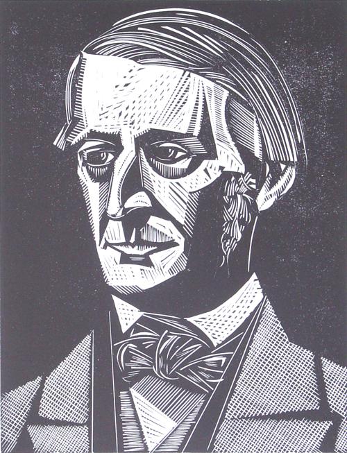 Ralph Waldo Emerson illustration from Alcorn Gallery