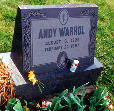 Andy Warhol tombstone grave