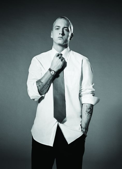 Eminem in shirt and tie