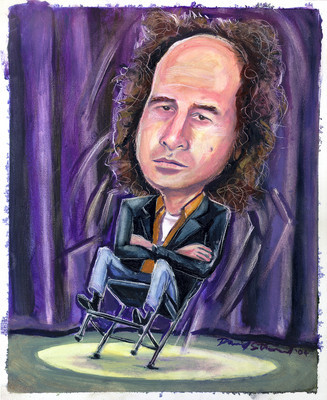 Steven Wright illustration by David Stroud