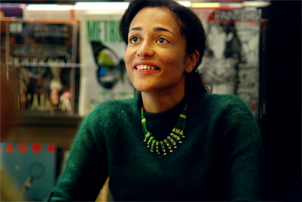 Zadie Smith smiling