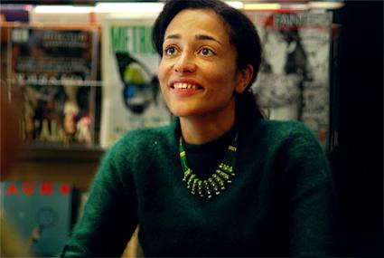 Zadie Smith smiling
