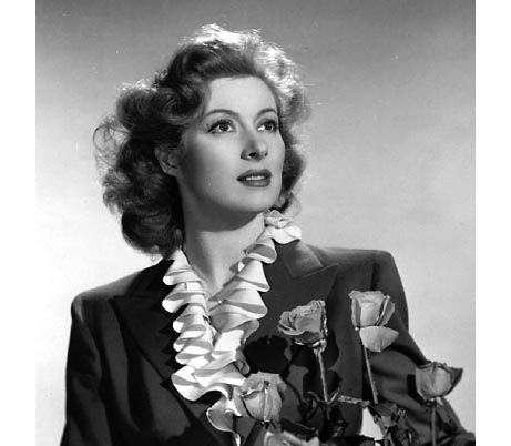 Greer Garson With Roses