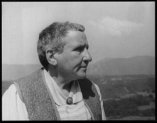 Gertrude Stein black and white photograph
