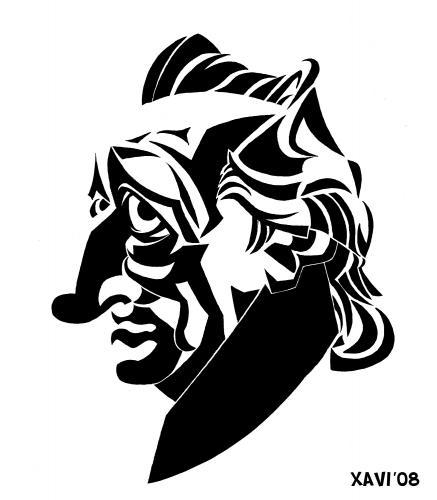 Johann Wolfgang von Goethe cartoon by Xavier Salvador