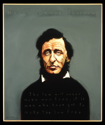 Henry David Thoreau painting