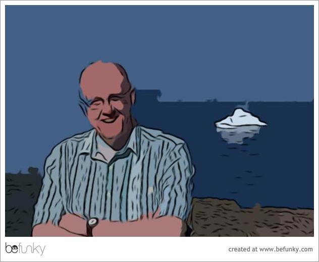 John and iceberg through BeFunky Cartoonizer