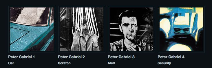 Peter Gabriel first four albums