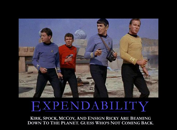 Expendability Redshirt Star Trek