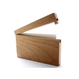 Wooden business card holder from Dwell