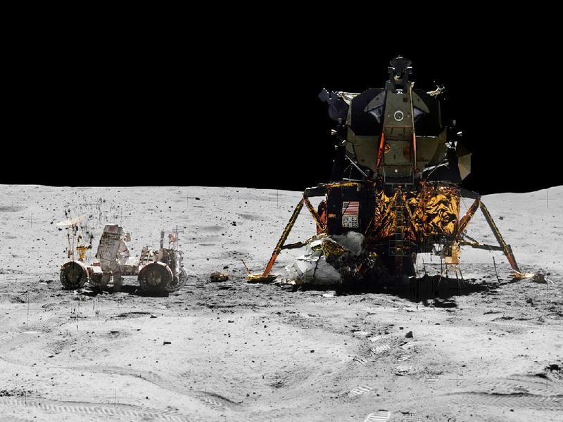 NASA Apollo lunar landing