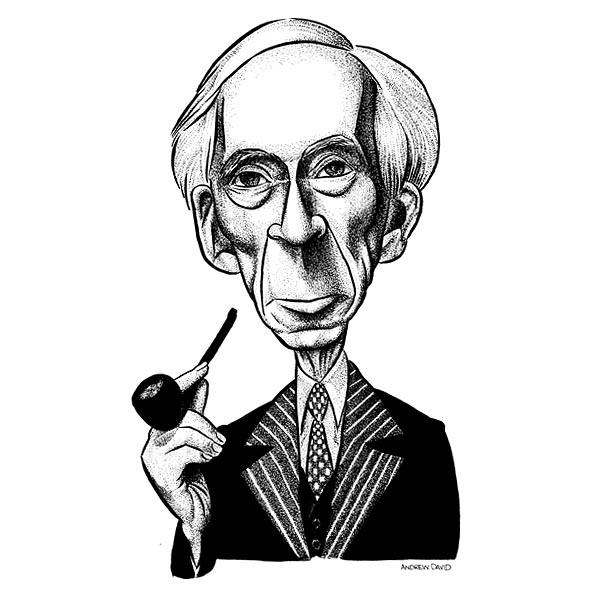 Bertrand Russell illustration by Andrew David