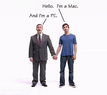 Mac and PC Justin Long John Hodgman