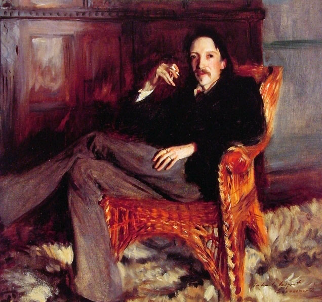 Robert Louis Stevenson painting
