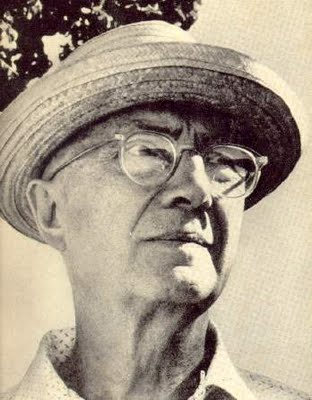 William Carlos Williams in hat