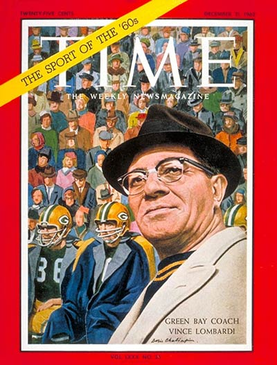 Vince Lombardi Time magazine cover 1962