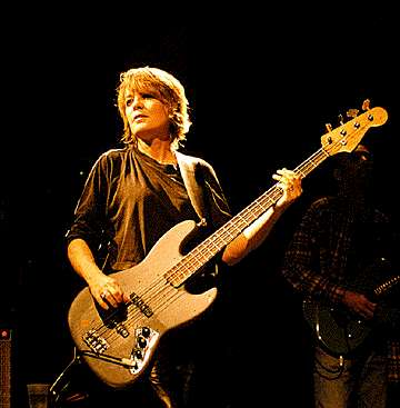 Tina Weymouth with bass