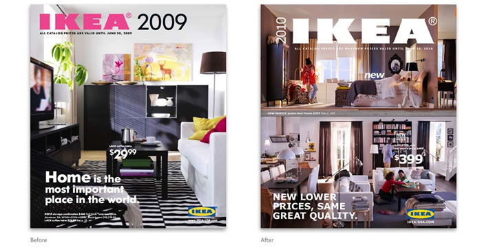 Ikea catalogue font change