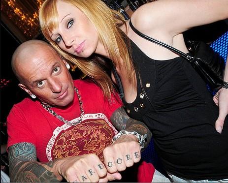 Hardcore knuckle tattoos