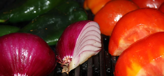 Cropped grill vegetables