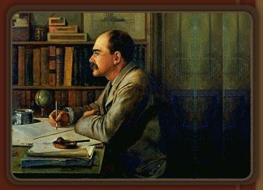 Rudyard Kipling painting