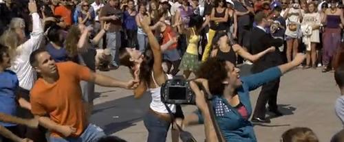 Tommy flashmob San Francisco screengrab