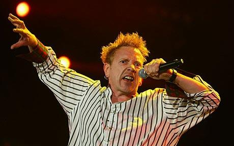 John Lydon performing