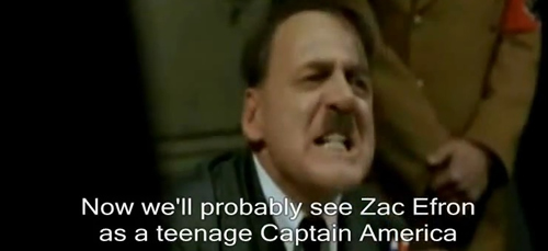 Hitler loses it Marvel Disney screengrab