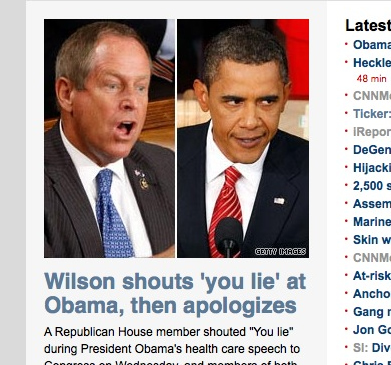 Joe Wilson You Like Barack Obama CNN screengrab