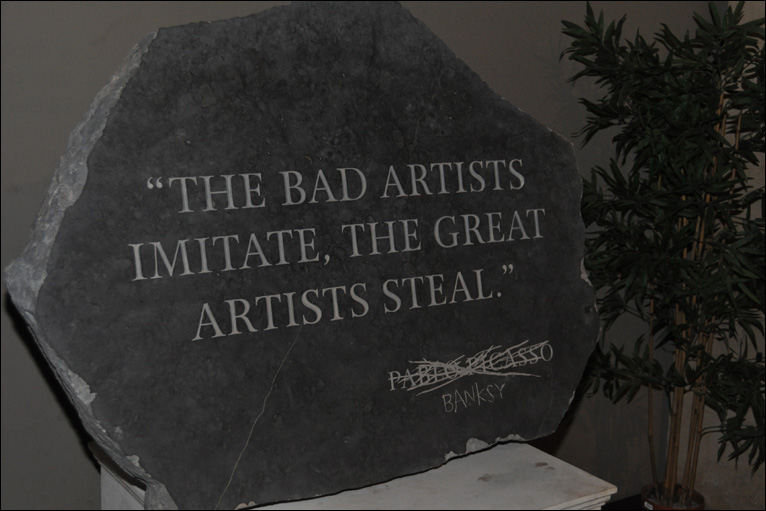 Banksy steals Picasso's quote