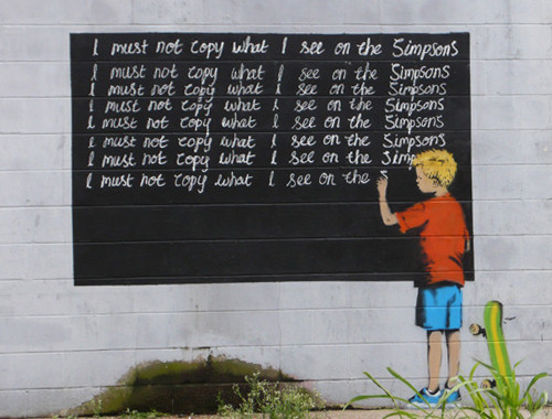 Banksy I Must Not Copy What I See on The Simpsons