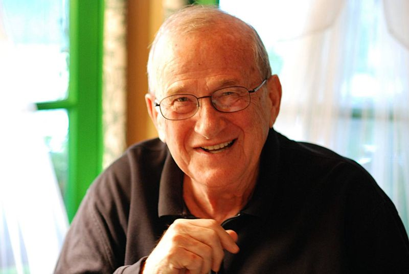 Larry Gelbart laughing