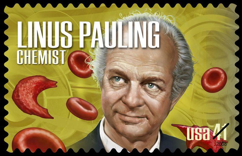 Linus Pauling Chemist US Postal Service stamp