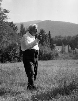 Robert Frost at farm