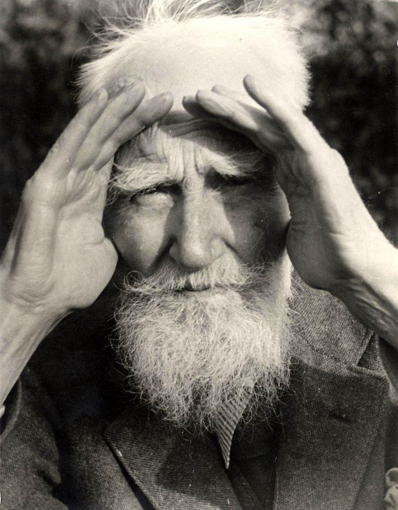 George Bernard Shaw wincing