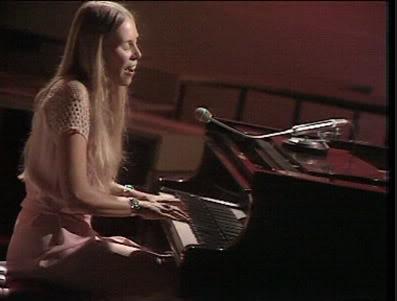 Joni Mitchell at piano 1971