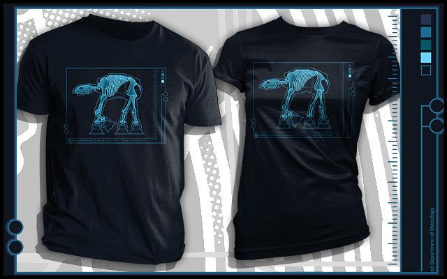 ATAT skeleton T-shirt from TeeFury