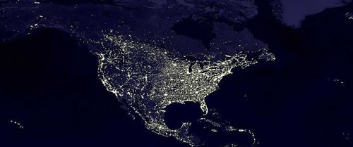Earthlights North America detail